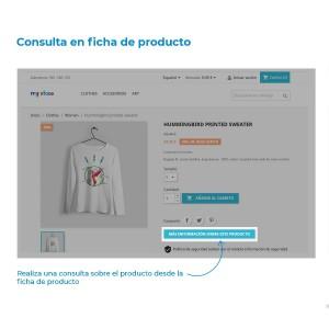 Módulo Consulta en Ficha de Producto