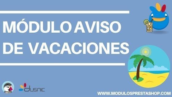 MÓDULO AVISO DE VACACIONES