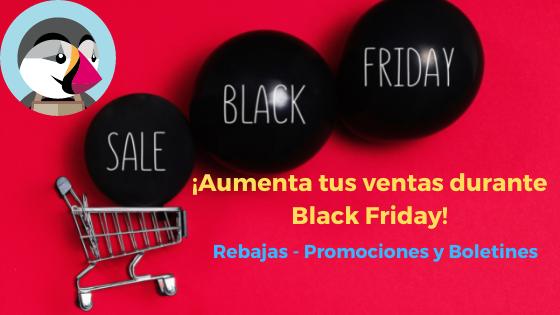 Campaña Black Friday en Prestashop